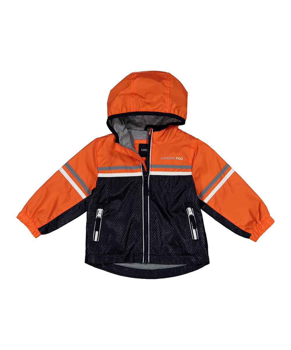 fd779fde love this product Orange & Black Color Block Windbreaker - Infant, Toddler  & Boys