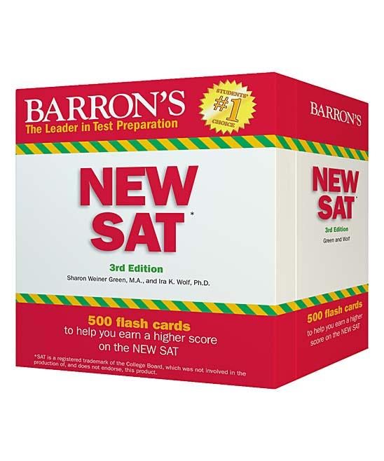 Barron's Barron's New SAT Flash Cards