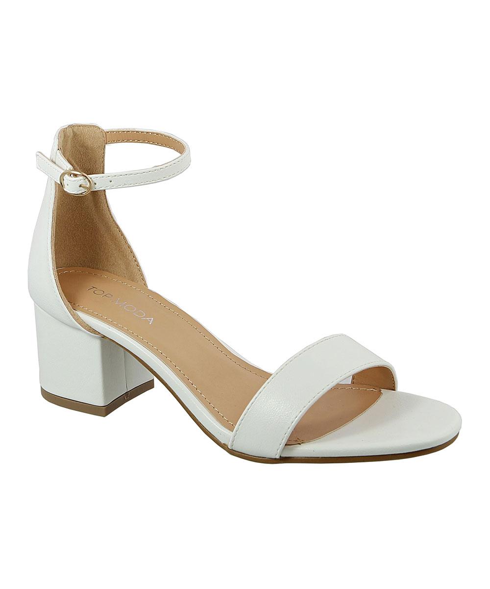 8341acc2fa8 TOP MODA White Ankle-Strap Darcie Sandal - Women