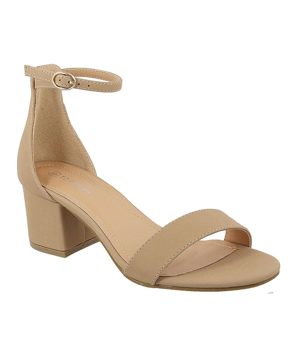 957e688a11e TOP MODA Taupe Ankle-Strap Darcie Sandal - Women