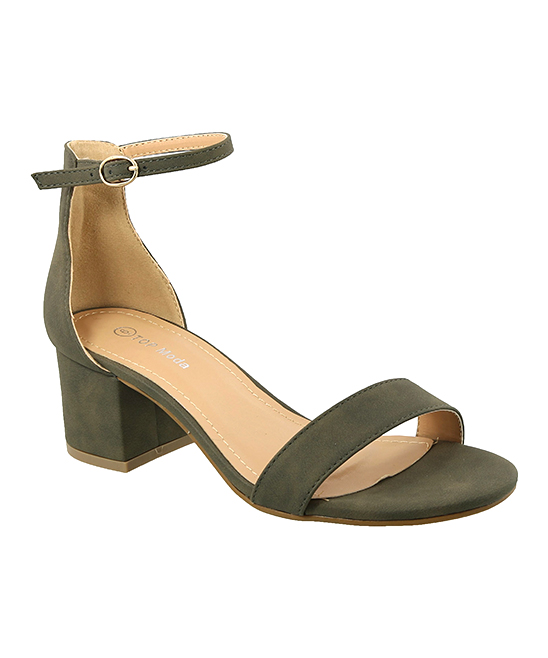 4362b494f51 TOP MODA Olive Green Ankle-Strap Darcie Sandal - Women