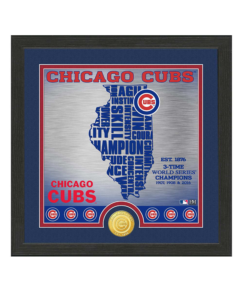 MLB Chicago Cubs Minted Coin & Framed State Art Print