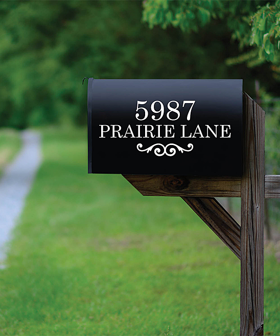 Personalized Planet White Home Address Personalized Mailbox Decal