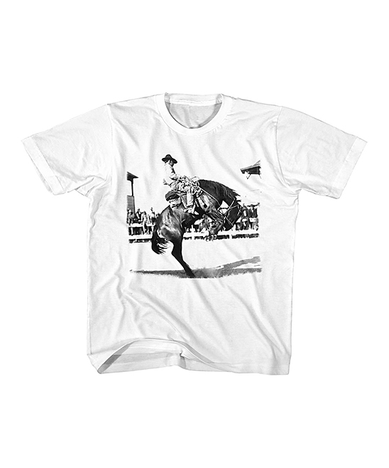 80ee3aa4 White Bucking Bronco Tee - Toddler & Kids
