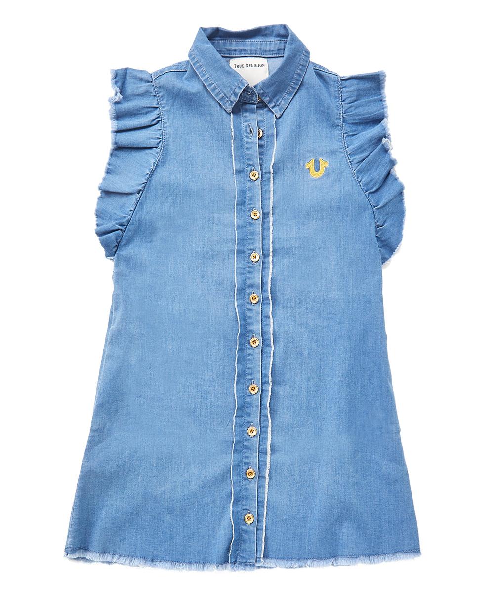 abce44fdb True Religion Chambray Denim Shirt Dress - Toddler & Girls | Zulily