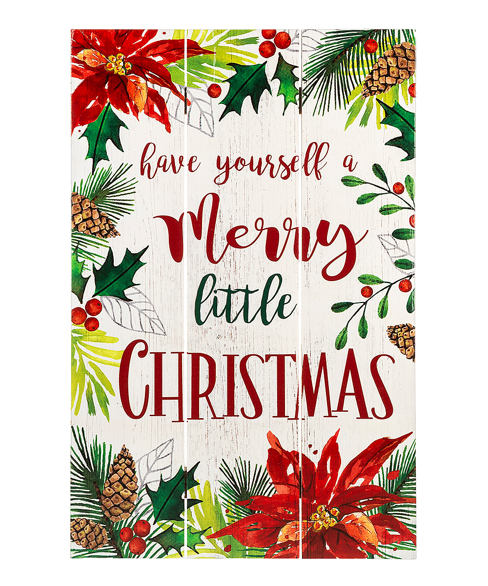 Have Yourself A Merry Little Christmas Sign.Ganz White Green Have Yourself A Merry Little Christmas Wall Sign