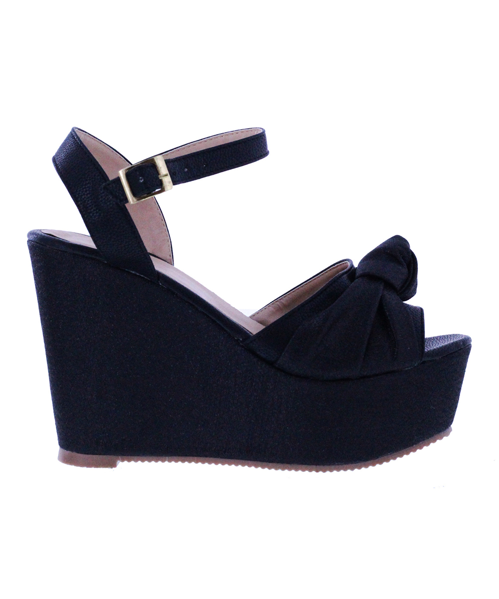 38d400212f9 Maker's Black Knot-Accent Xiomara Wedge - Women