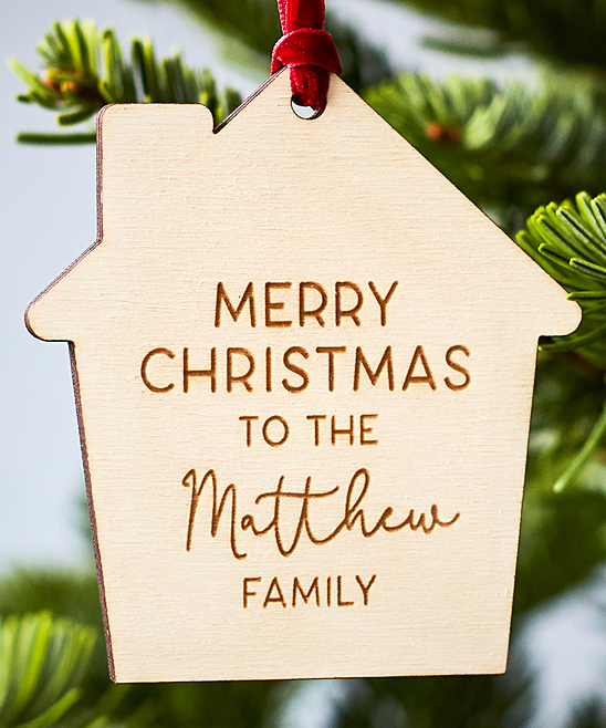 Merry Christmas Ornament Sign.The Handmade Christmas Company Natural Merry Christmas To The Family Laser Cut Personalized Ornament
