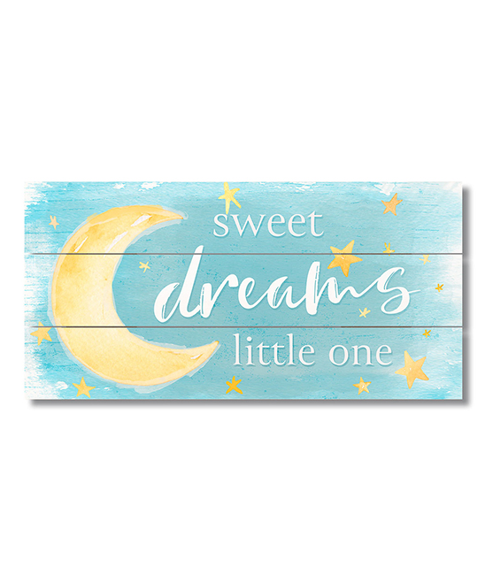 Highland Home Blue Sweet Dreams Little One Pallet Wood Sign