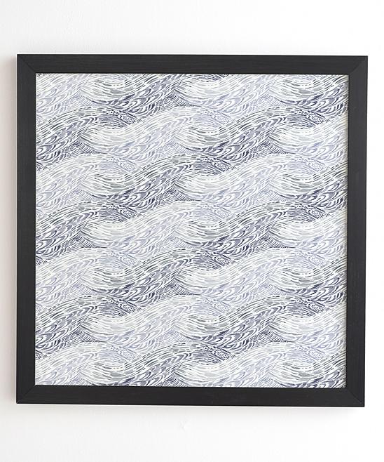 Deny Designs Pimlada Phuapradit Wooden Wave Framed Wall Art