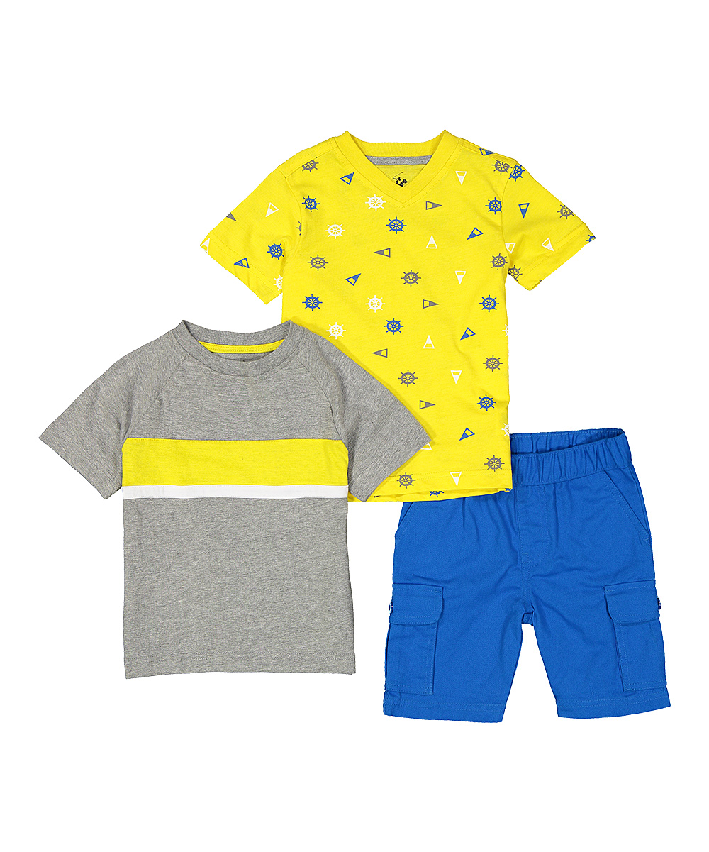 Beverly Hills Polo Club Toddker Boys Polo /& Shorts Set Size 2T Blue