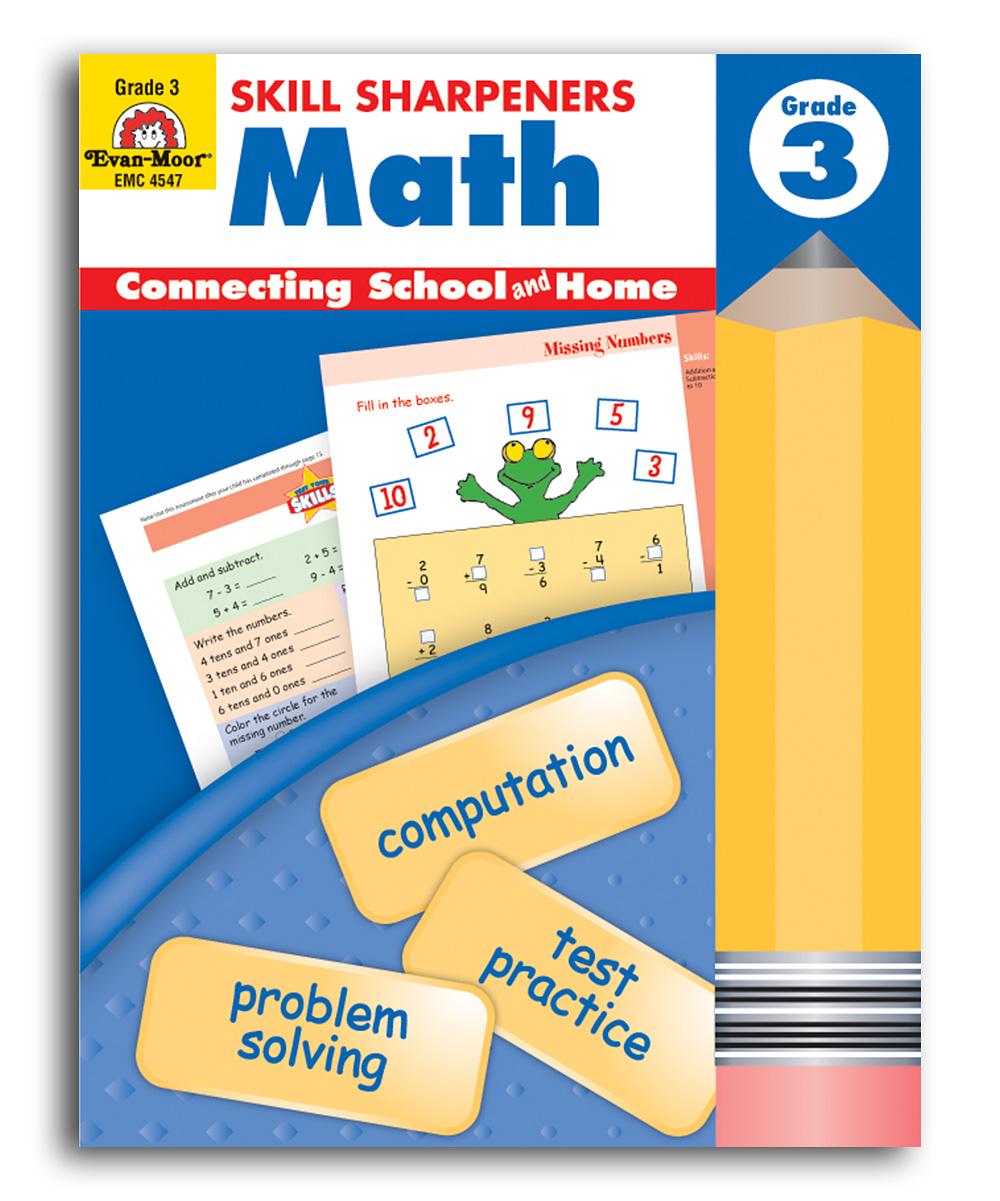 Evan-Moor Educational Publishers Grade 3 Math Skill Sharpeners Workbook