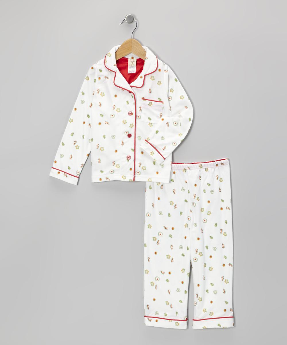 munki munki White Christmas Cookies Pajama Set - Infant, Toddler ...