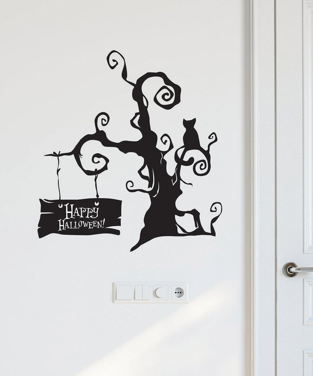 wall quotes™belvedere designs spooky halloween tree wall decal