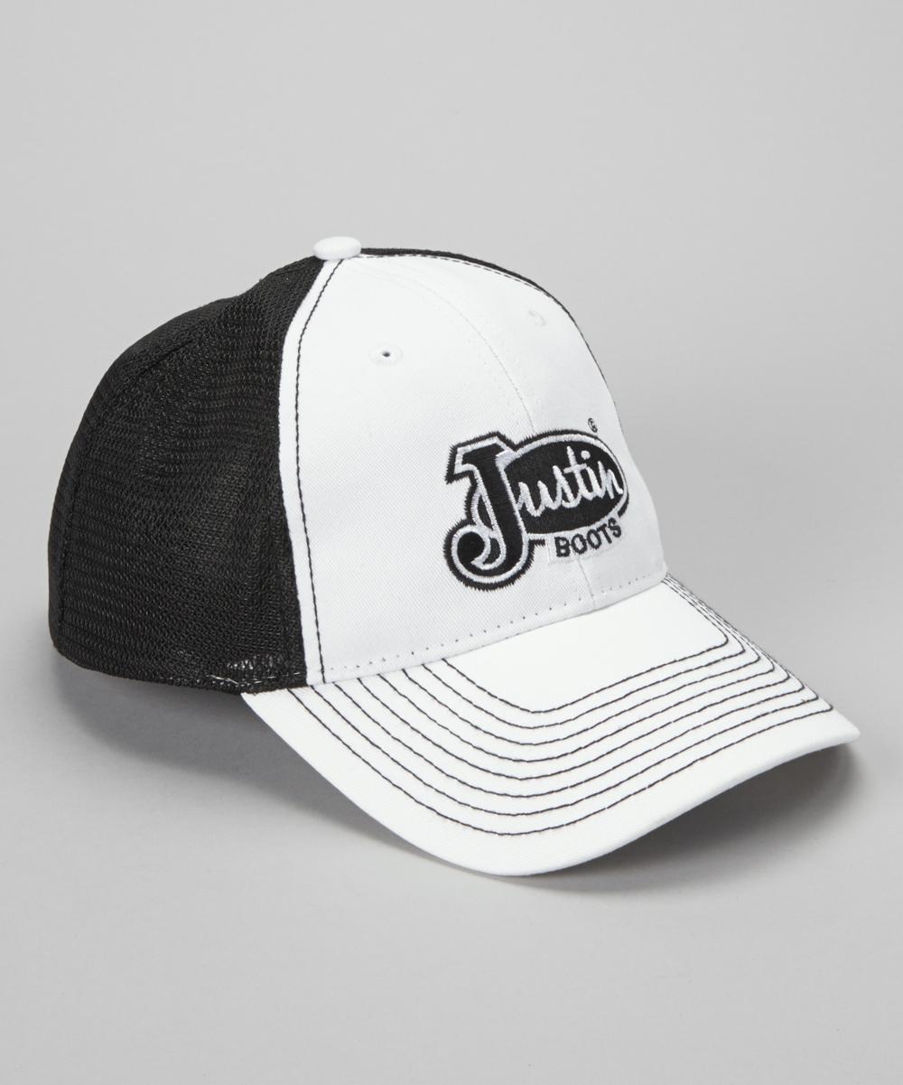 188a6e0c9 love this product White & Black 'Justin Boots' Mesh-Back Baseball Cap