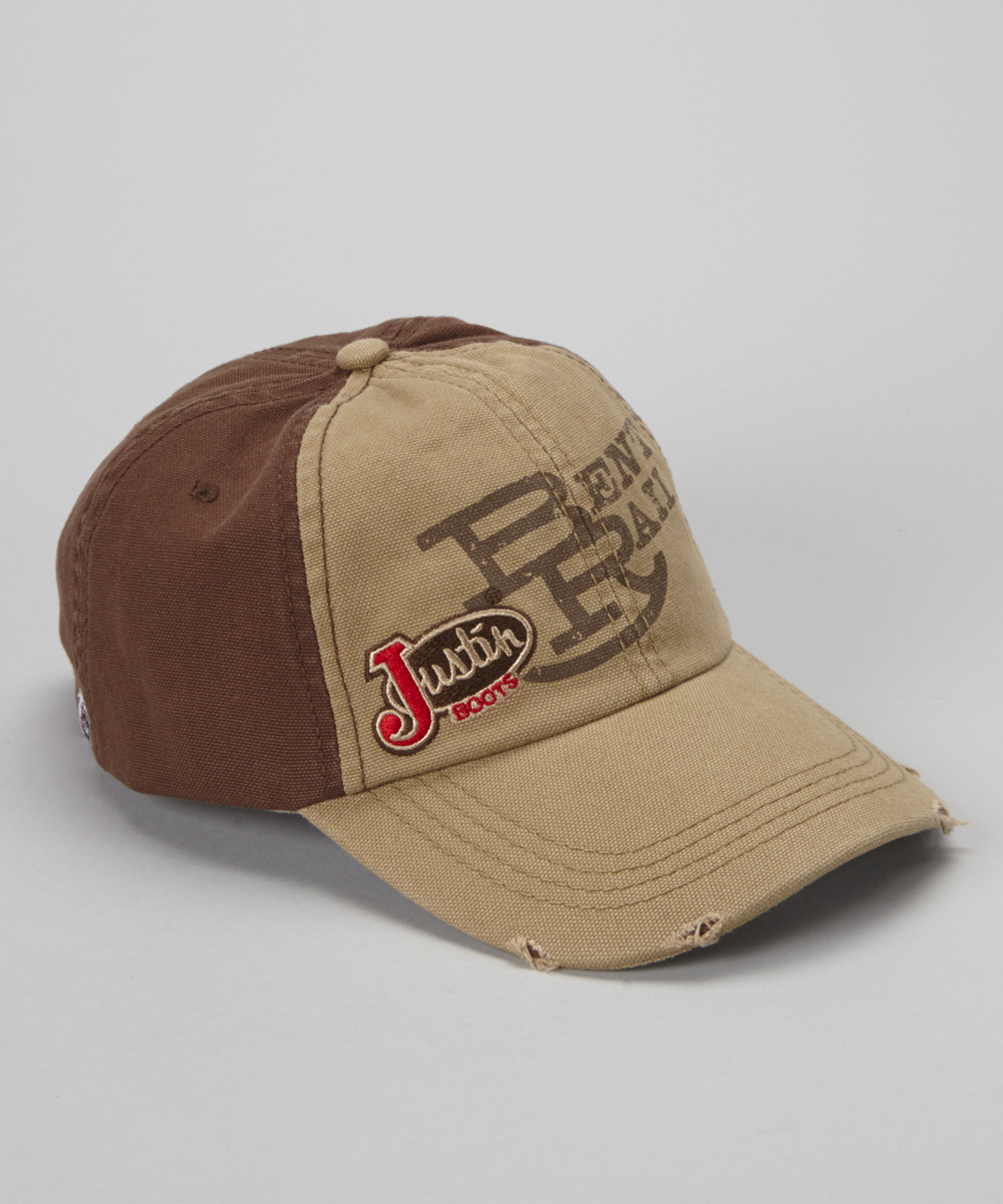 8df80beff Justin Boots Brown & Tan 'Bent Rail' Baseball Cap