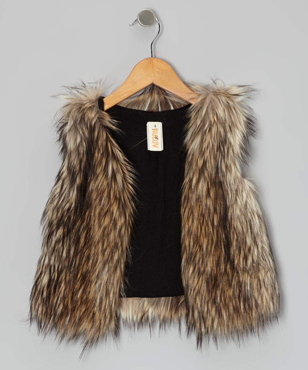 e994e7a55 Tru Luv Brown Faux Fur Vest - Toddler   Girls