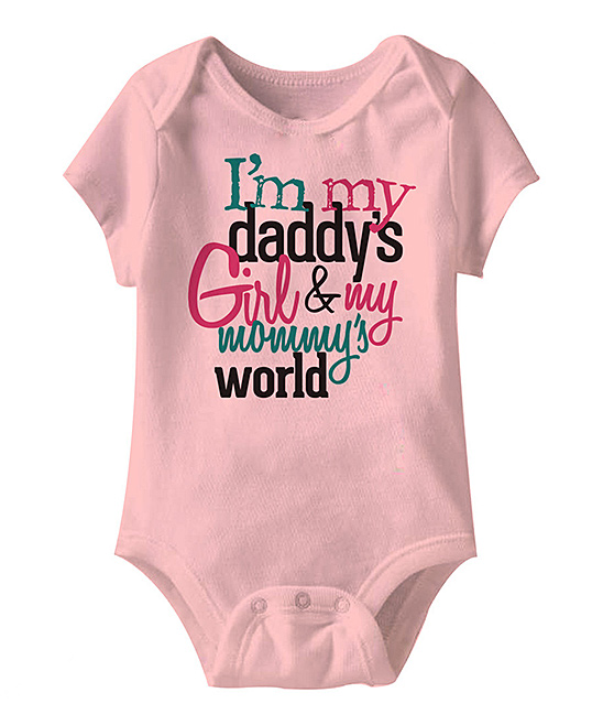 cc9f2cf0e love this product Pink 'Daddy's Girl & My Mommy's World' Bodysuit - Newborn  & Infant