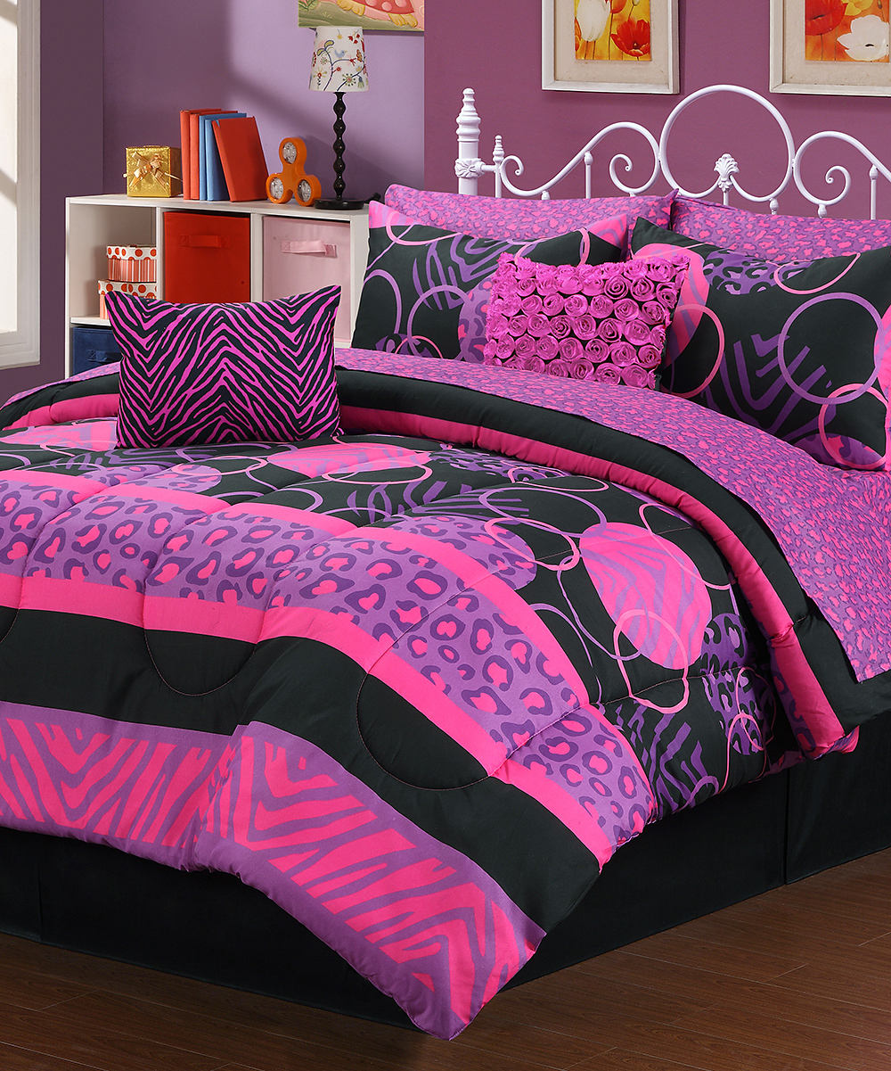 807f525759f love this product Pink   Purple Wild Fashion Bedding Set