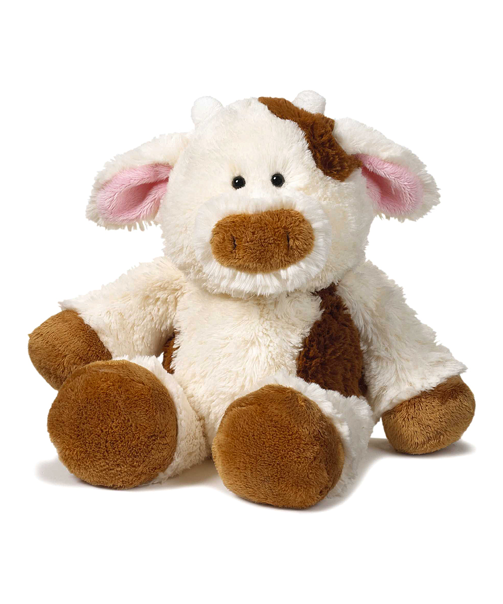 love this product White   Brown Floppy Friends Plush Cow 063d641398