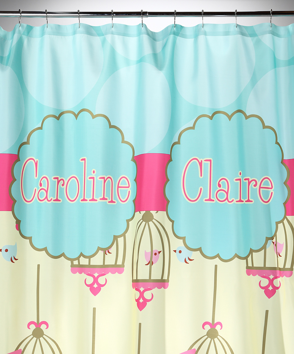 Bird Cage Personalized Shower Curtain