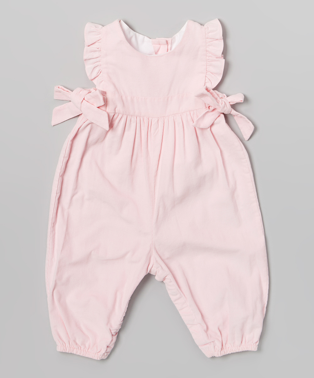 69f574c0a bella bliss Pink Ruffle Berkley Overalls - Infant   Toddler
