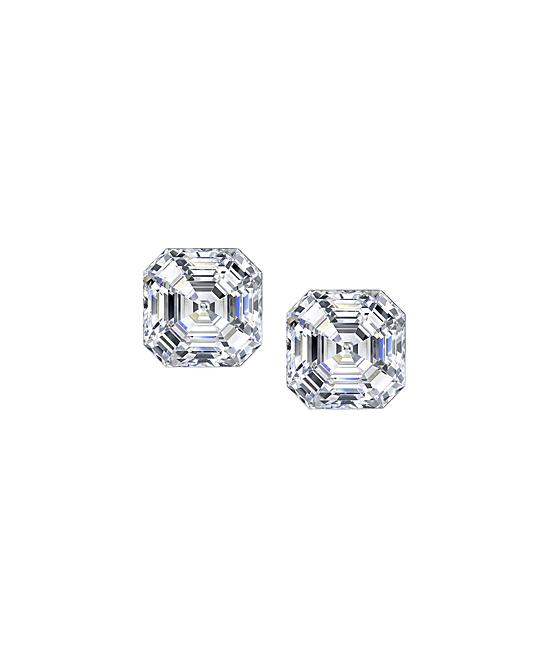 520fc7345049b Delani Cubic Zirconia & Sterling Silver Asscher-Cut Stud Earrings