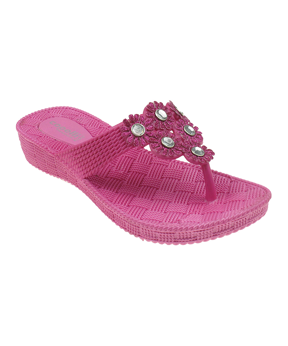 7933874f8c Capelli New York Pink Glitter Wedge Flip-Flop   Zulily