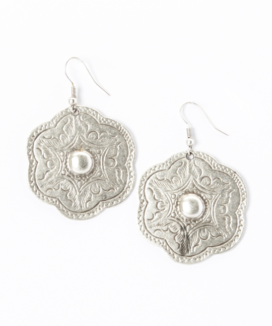 329b00602f269 Turkish Delight Silver Engraved Scallop Drop Earrings