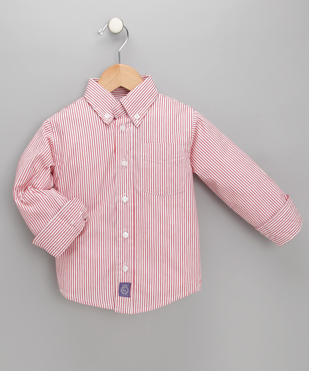 Red White Striped Shirt Toddler Boys Zulily