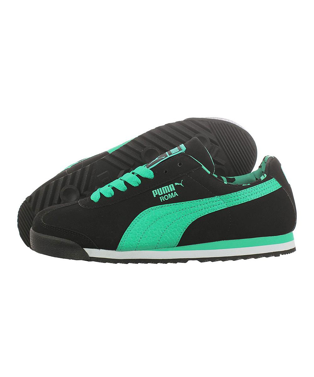 a3494b0aa58 sale puma 10344407 men neon green and blue gavetto sala indoor football  shoes price in india 3058e c3fec  canada puma black neon green roma leather  sneaker ...