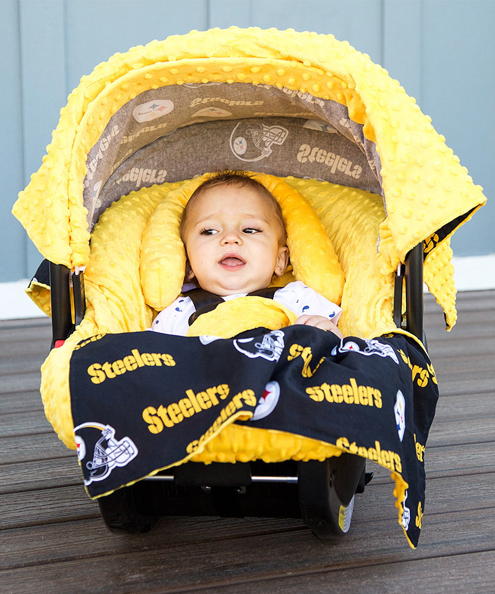 Baby Fanatic Pittsburgh Steelers Car Seat Caboodle Set
