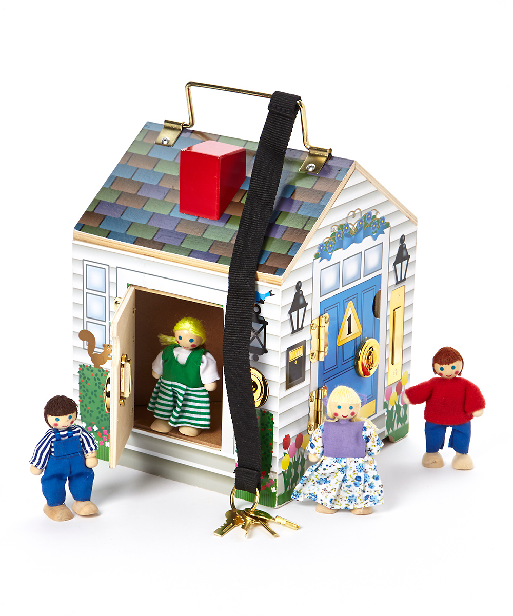 Melissa Doug Doorbell Wood Dollhouse Set