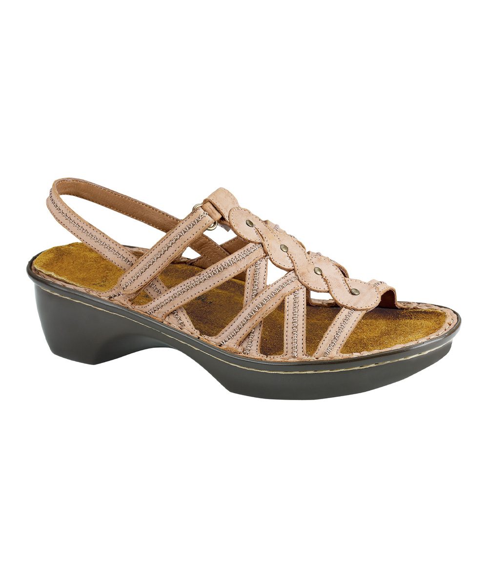 d5d6760f4cb14 NAOT Biscuit Leather Mumbai Leather Sandal