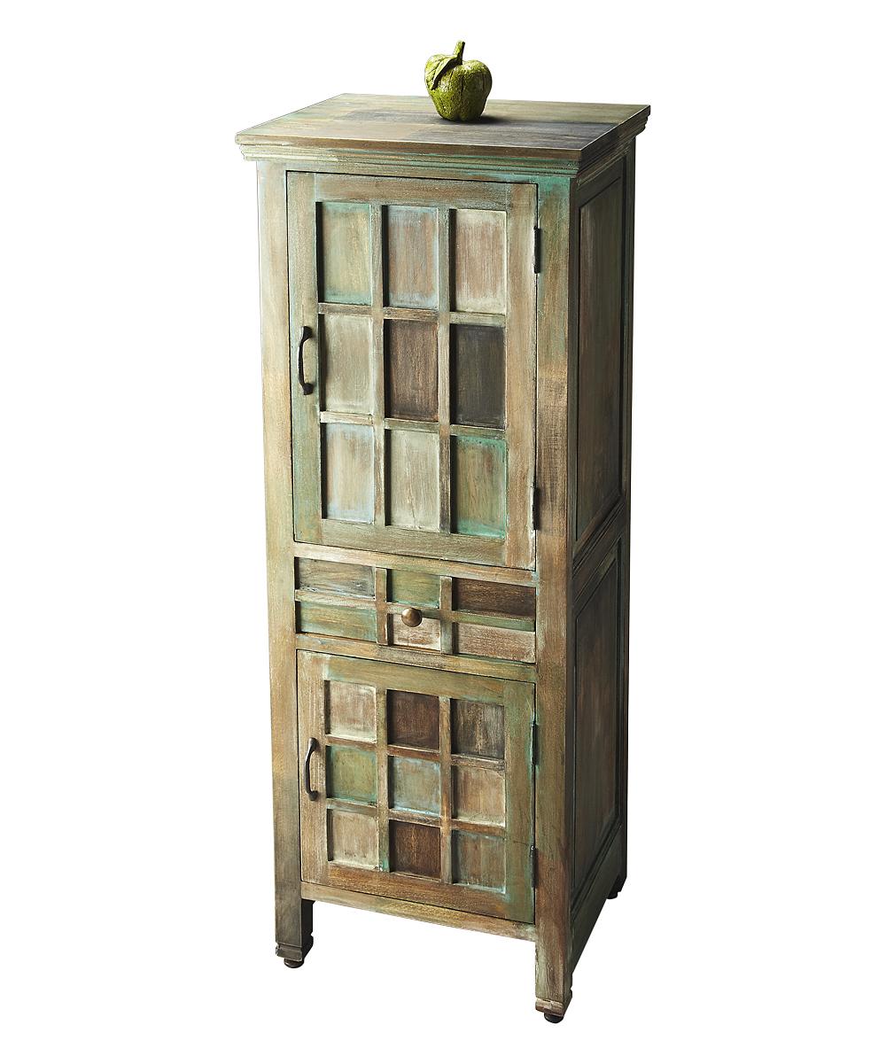 Bon Distressed Wood U0026 Pastel Accent Cabinet