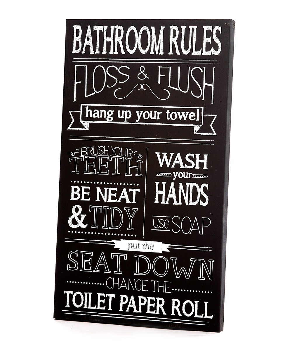 Love This Product Black White Bathroom Rules Wall Art