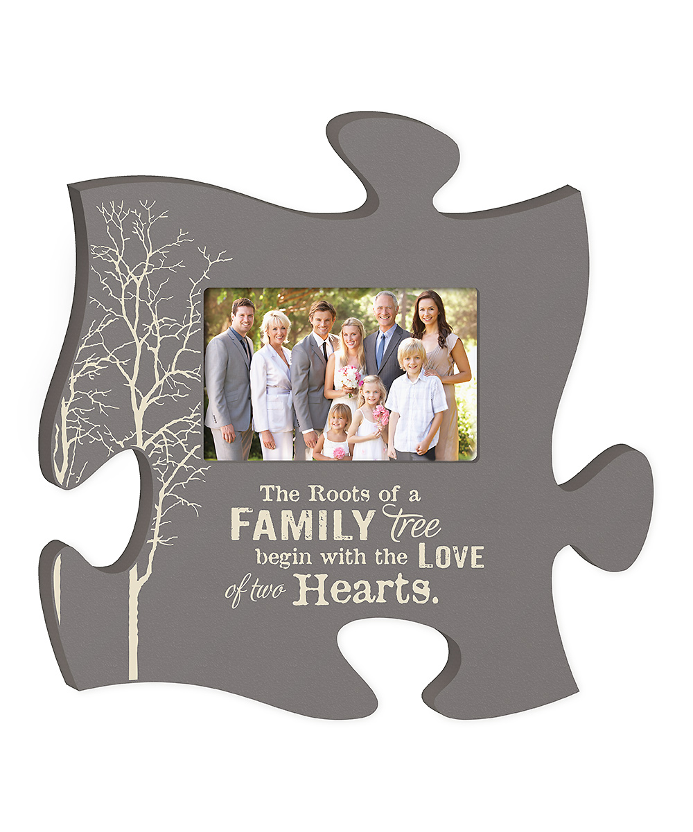 p graham dunn family tree puzzle piece frame zulily