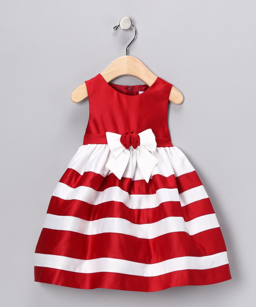 Red & White Stripe Dress - Infant, Toddler