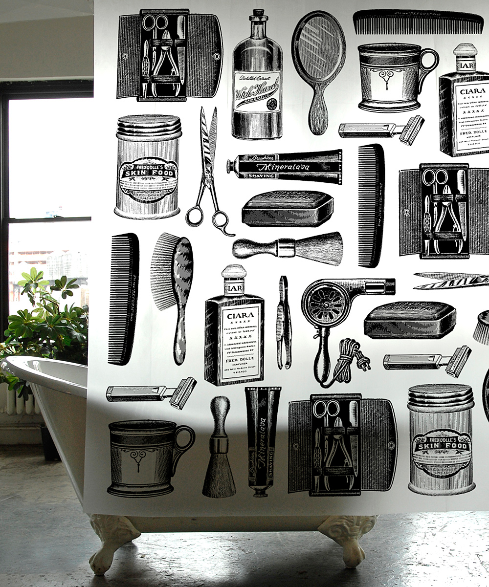 Barbershop Tools Shower Curtain