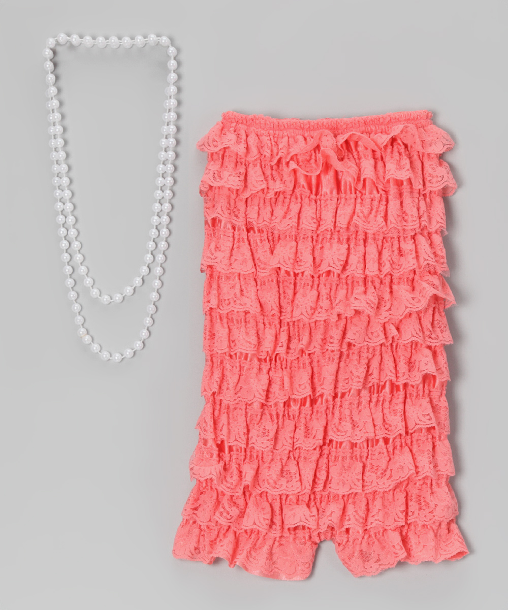 a362a0b1150 Pixiedust Pretties Watermelon Lace Romper   Pearl Necklace - Infant ...