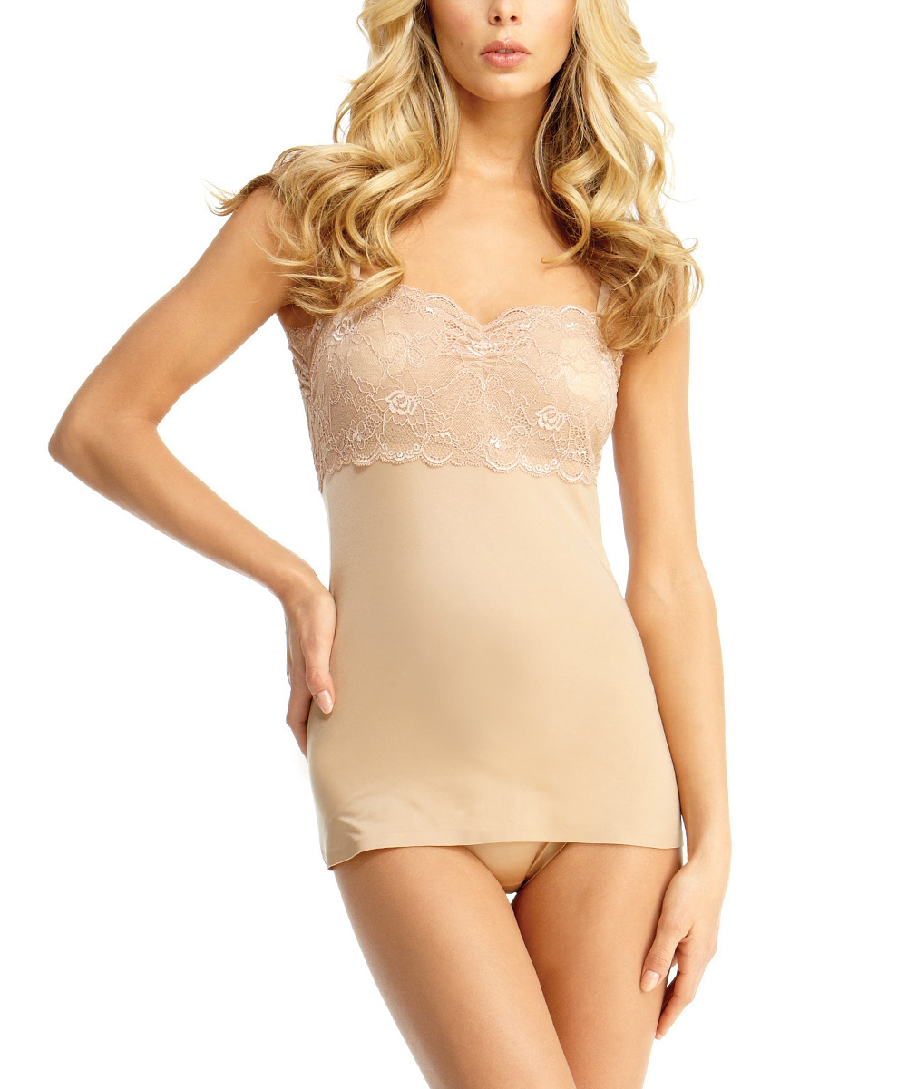 f0f650377e love this product Nude Lace SlimLuxe(R) Moderate Compression Camisole -  Women   Plus