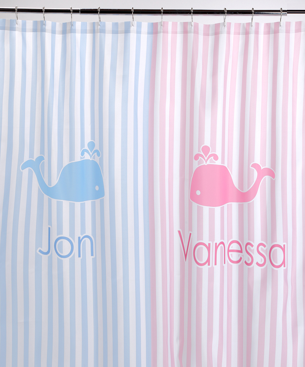 Pink U0026 Blue Whale Personalized Shower Curtain | Zulily