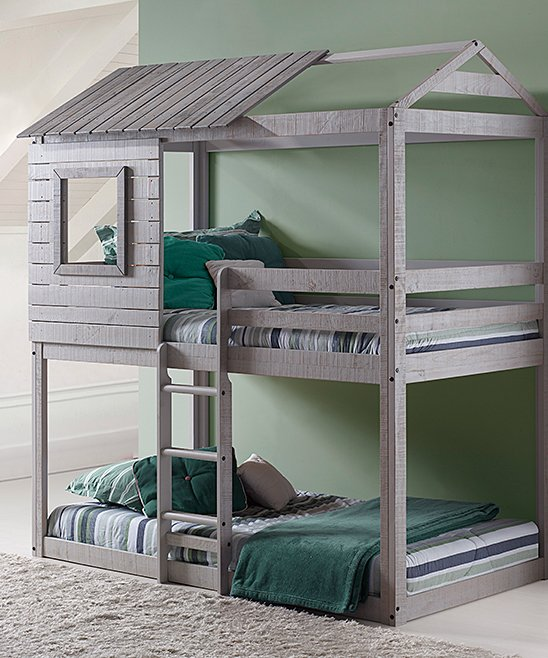 Donoco Kids: Light Gray Deer Blind Twin/Twin Bunk Bed! 1.68 (REG 7.50) at Zulily!