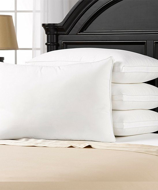 Hotel Essentials Gusseted Medium Density Pillow – Set of Four!