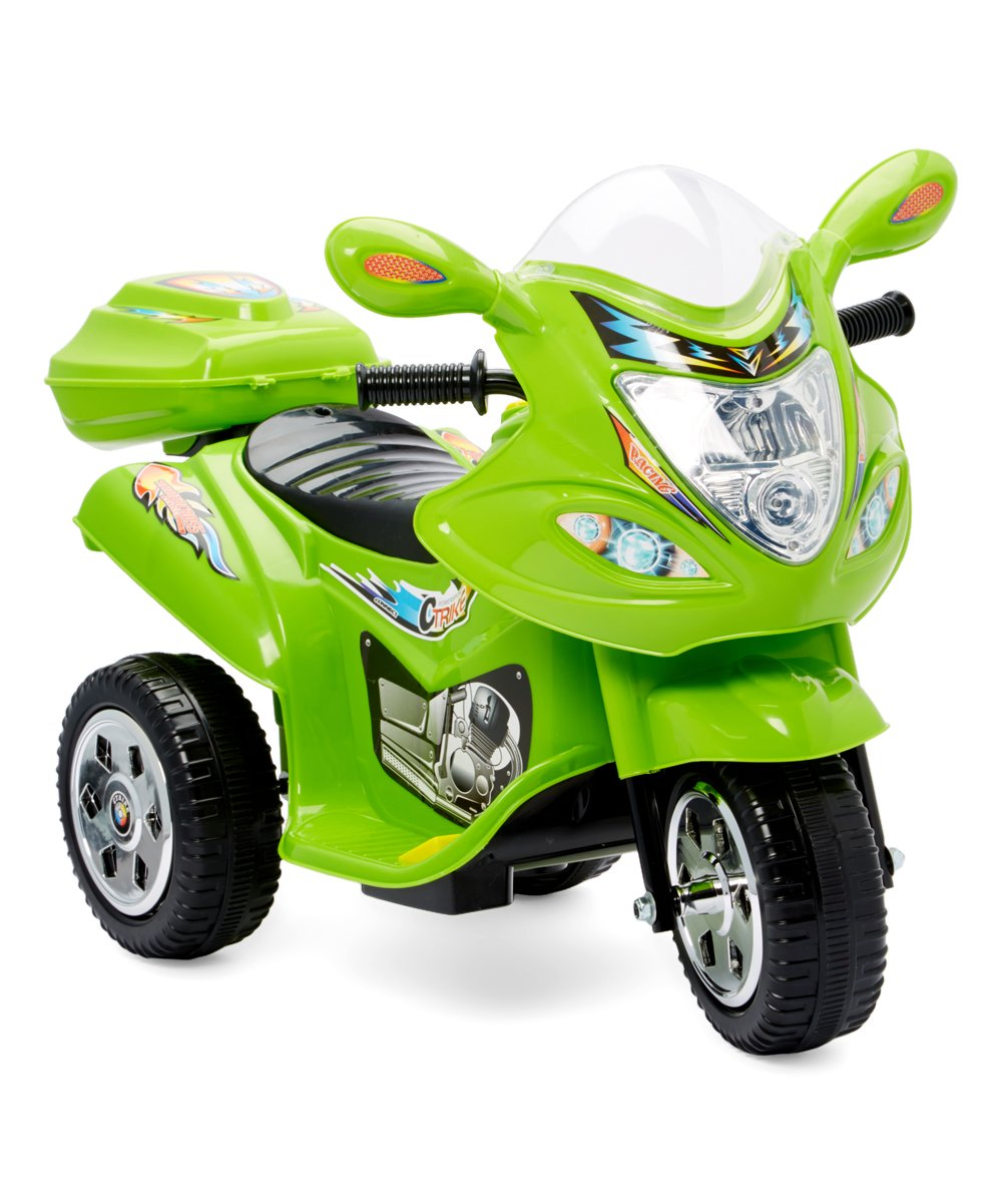 .99 Green Three-Wheel Motorcycle Ride-On Toy at Zulily!