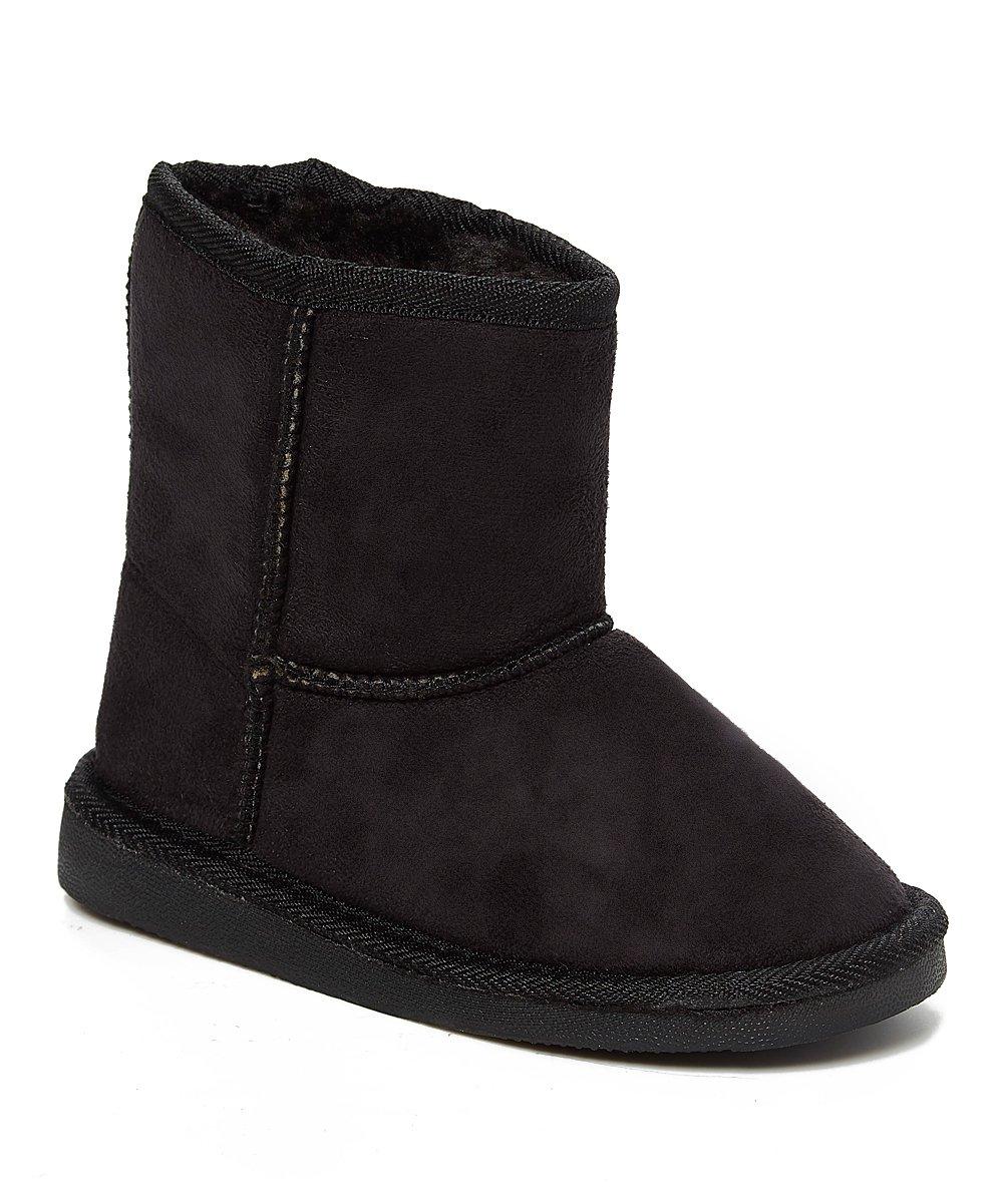 Ameta Black Faux Fur Ankle Boots