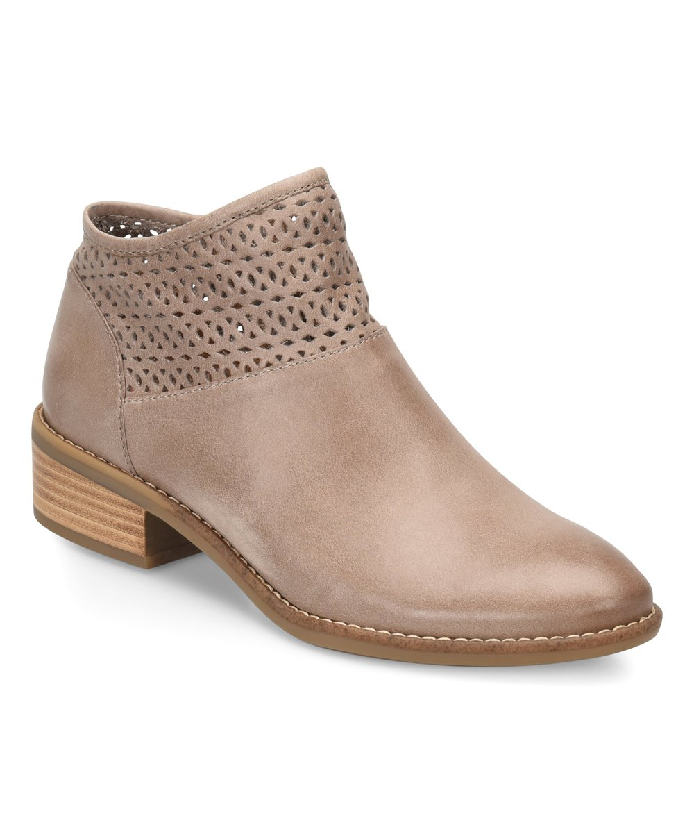 Take 80% off these light taupe leather booties