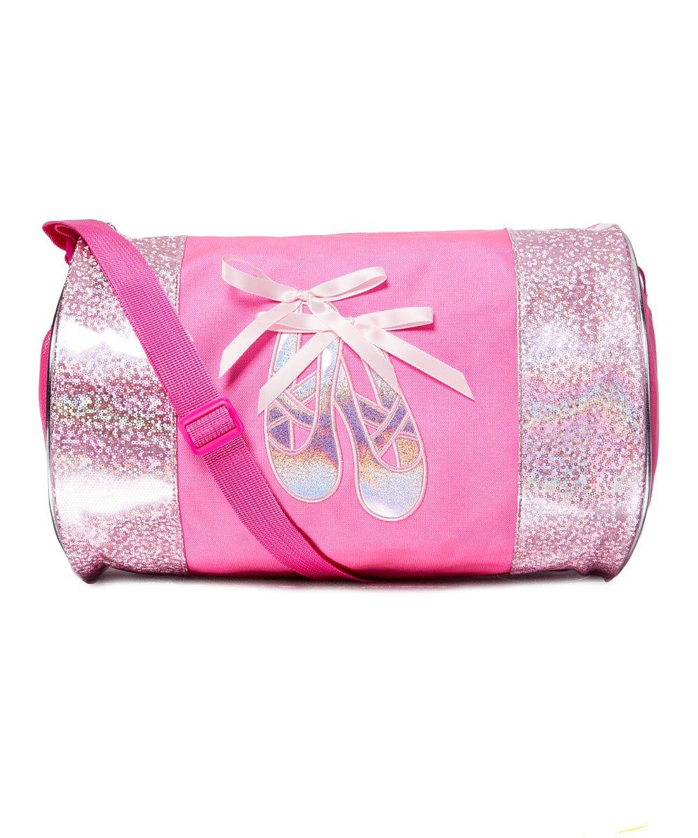 .99 Pink Metallic Ballerina Slippers Duffel Bag at Zulily!
