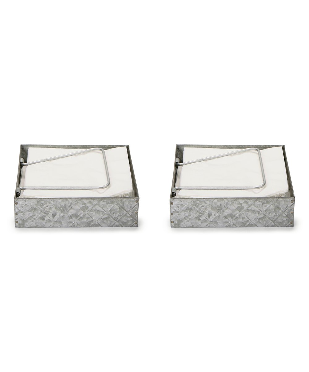 Mind Reader Silver Galvanized Metal Napkin Holder Set Of Two Best Price And Reviews Zulily