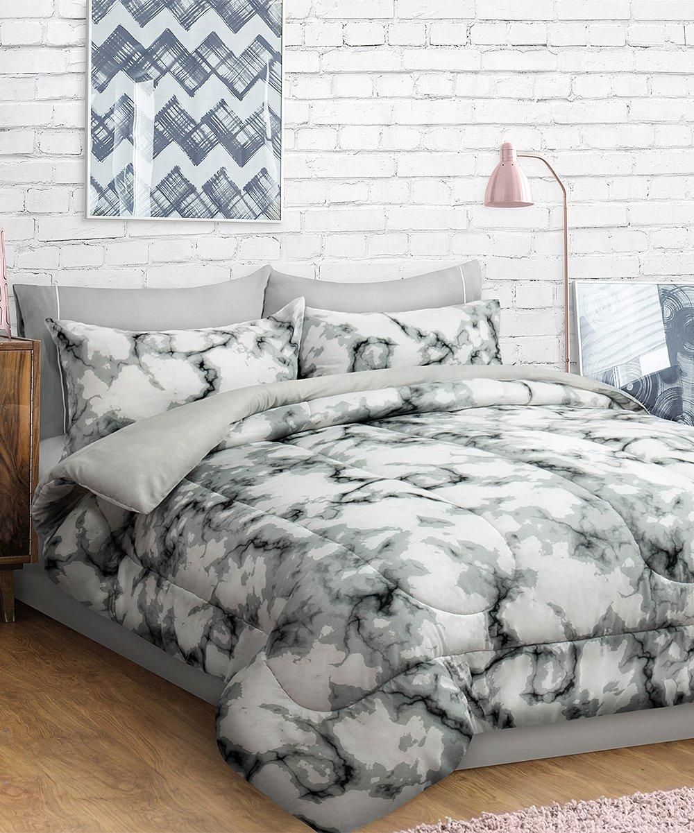 Safdie Co Inc Gray Marbled Comforter Set Zulily